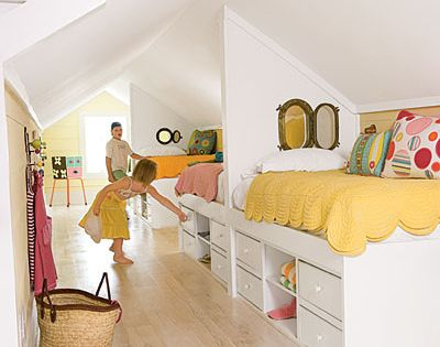 great kids room for attic room