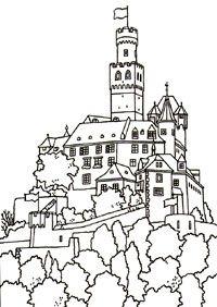 Great Castles Games Castle Coloring Book Castle Coloring Page Coloring Pages Coloring Books