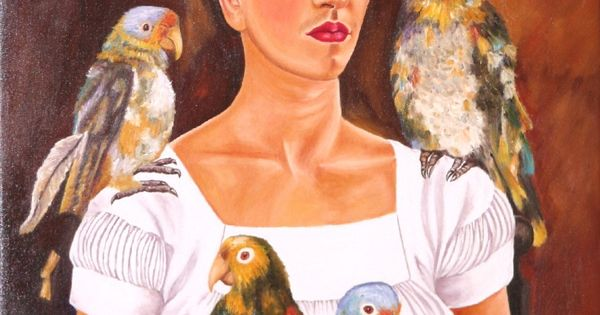 Frida Kahlo, Me and My Parrots, 1941, Oil on canvas, 82 x ...