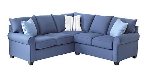 Caldwell Accent Chair Blue Pillows