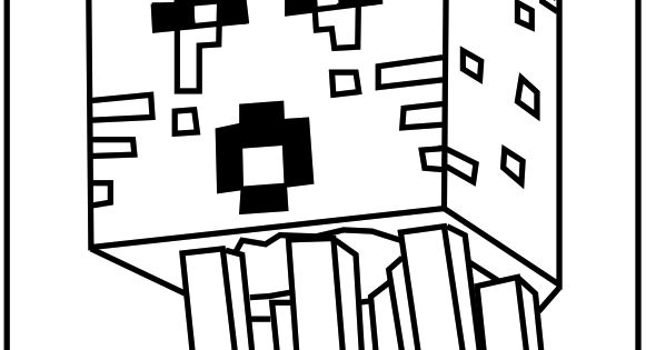 Printable Minecraft Ghast coloring