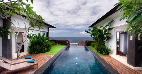 lap pool and a view of the ocean = perfection