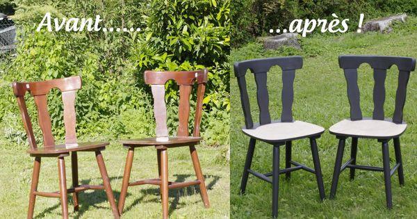 comment relooker des chaises en bois d caper poncer et repeindre des chaises bistrot en bois. Black Bedroom Furniture Sets. Home Design Ideas