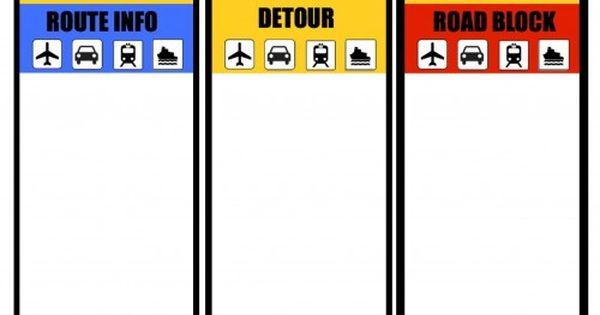 amazing race route info template choice image template design ideas