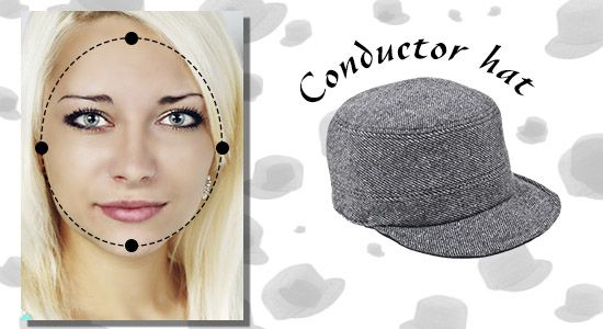 Hats For Round Shaped Face Face Shapes Baseball Caps Fashion Conductor Hat