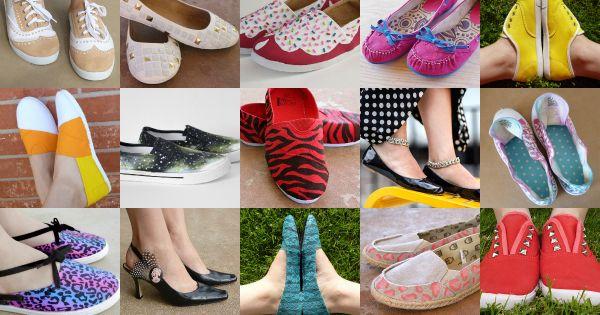 50 DIY Shoe Makeovers! crafts diy shoes