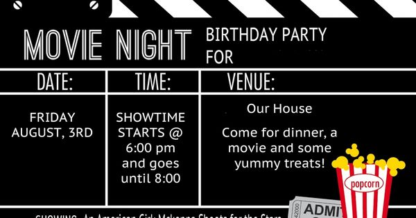 Movie Invitation Template Free | graduation | Pinterest ...