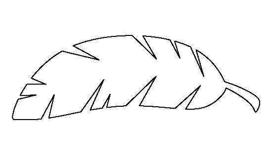 Banana Leaf Pattern Use The Printable Outline For Crafts