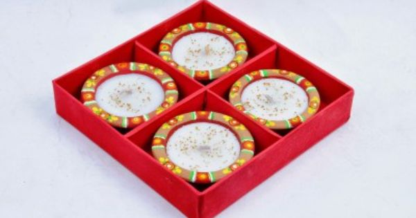 Hamara Nischay Traditional Earthenware Table Diya Set Earthenware