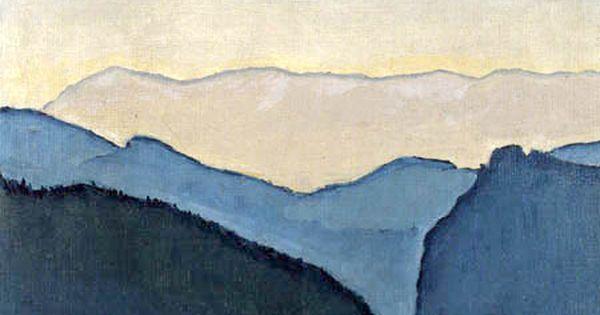 Koloman Moser Berggipfel Peintre Peinture Abstraite Peinture