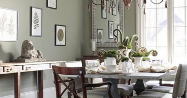 Obsessed with sage green dining rooms the chandelier is for Dining room 95 hai ba trung
