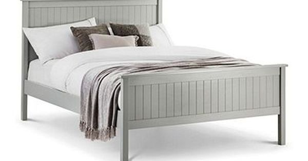 Happy Beds Maine Dove Grey Wooden Bed Frame Bed Frame With Mattress Double Bed Frame Wooden Bed