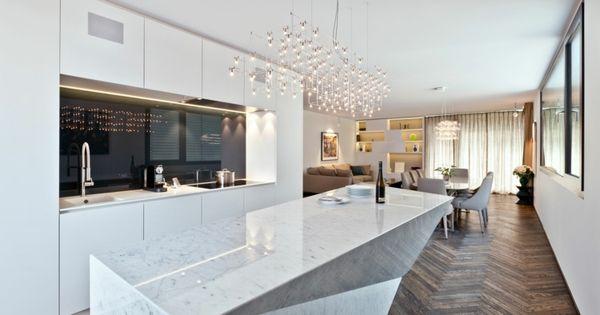 naturstein-küche-granit-weiß-grau-abstrakt-kücheninsel ... | {Granit küche 30}