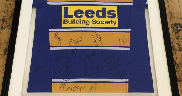 Man Cave Leeds : Framed leeds rhinos signed jersey sports