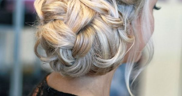 Prom hair braid updo