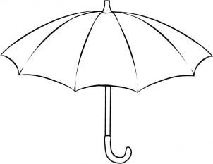 Drawing Printout How To Draw An Umbrella Umbrella Drawing Umbrella Cute Umbrellas