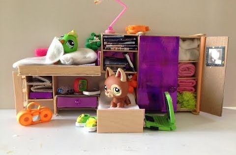 how to make lps accessories a bedroom set