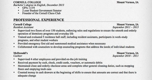 Download This Resume Sample To Use As A Template For