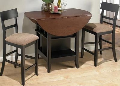 Small Round Pub Table With Storage 2 Chairs Jofran