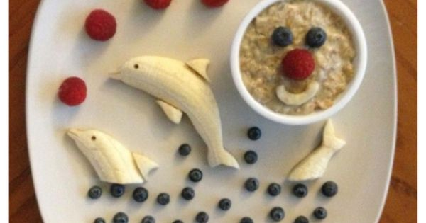 dolphin bananas Kids Creative Meal Art Ideas |