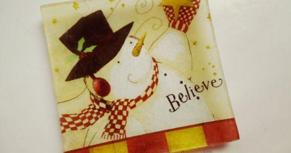Platos decorativos de navidad por eltallerdeire en etsy - Decorativos para navidad ...