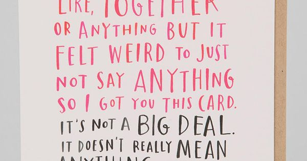 awkward dating valentines card Funny valentines day card, awkward valentines day card, just dating valentines day card for him, funny valentines day cards, card for him.