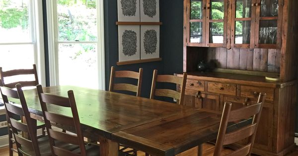 Custom reclaimed barn wood farm table with 2 18quot company  : d971aed4ef72a000e4922d54af7d32a9 from www.pinterest.com size 600 x 315 jpeg 37kB