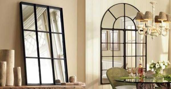 Home Decor Mirrors With Faux Window Look Black Window