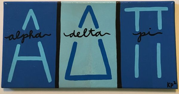 Custom sorority block letter canvas by kimberlypaigeporter for Custom block letters