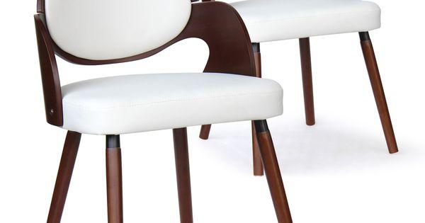 Lot De 2 Chaises Scandinaves Estel Bois Noisette Et Blanc En 2020 Chaise Scandinave Chaise Design Et Chaise Scandinave Pas Cher