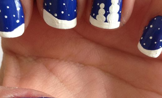 Christmas Nails Art - Snowy Night - Click pic for 25 Christmas
