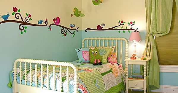 Owl Themed Bedroom For A Girl. I Love How It's Not