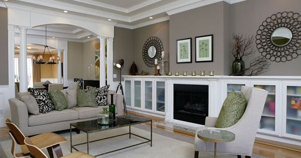 Great idea for living room paint color. Storm by Benjamin Moore