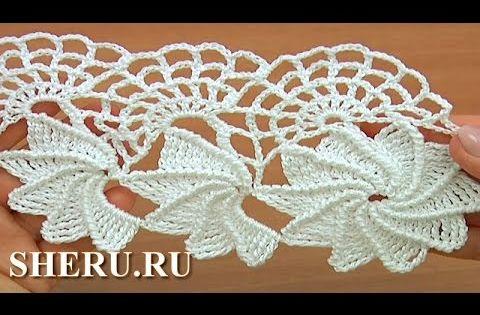 Crochet spider web lace tutorial 23 1 2 - Crochet Spider Web Lace Tutorial 23 1 2