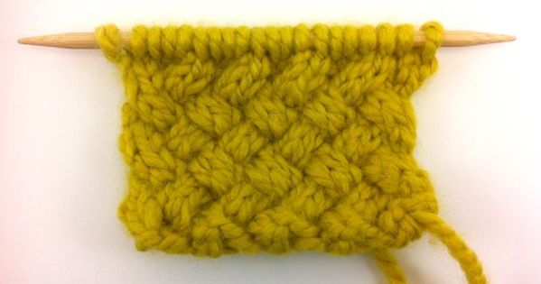 How To Weave Knitting Stitches Together : how to knit the woven cable stitch #knitting Knit/crochet Pinterest Cab...