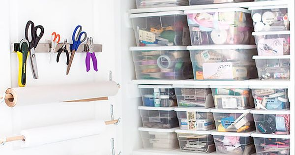 Organized craft closet ideas