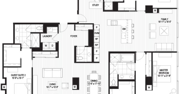 Penthouses In Chicago Floor Plans Penthouse A Floorplan