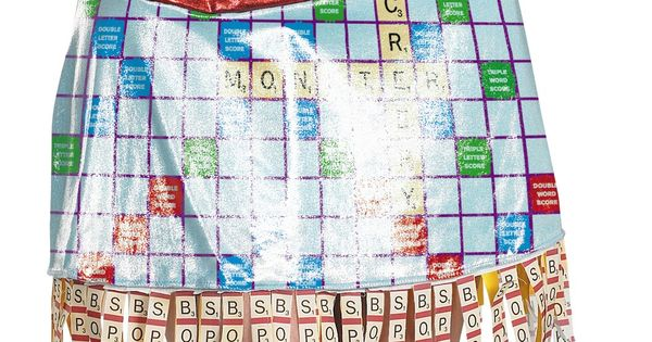 Scrabble sexy deluxe adult women 39 s costume board game for Diy scrabble costume