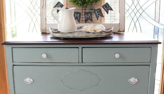 Antique Dresser Revived With Behr S Gray Morning Made Into