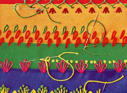 Vintage Hand Embroidery Love!! D.I.Y. Pattern Inspiration for crazy quilt stitches *