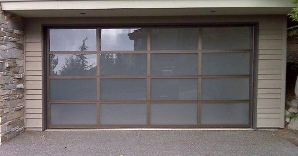 Clopay avante collection glass and aluminum garage door for Opaque garage door