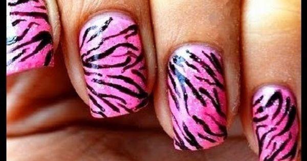 Do It Yourself Nail Designs: Pink Tiger Nail Art Designs Easy Youtube Do It Yourself