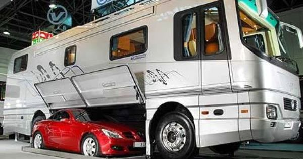 New Motorhome Complete With Toad Garage  RV Lifestyle  Pinterest