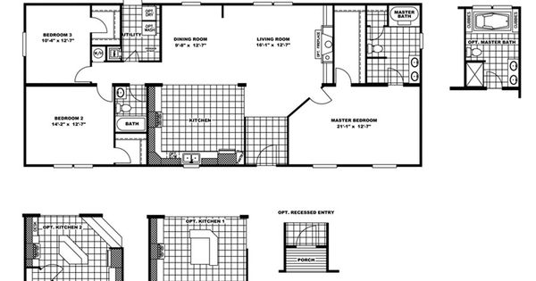 Floorplan Oly28643a Hera 29oly28643ah Oakwood Homes