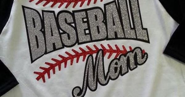 Baseball Mom Raglan Glitter T Shirt Baseball Or Softball
