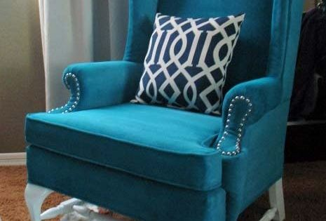 Teal Color Chair Nice Accent Piece Home Amp Garden