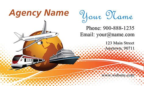 Train Ship Airplane Travel Agency Business Card Design 901011 Agency Business Cards Business Card Design Travel Agency