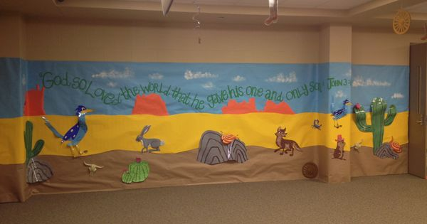 Wild West Wall Decorations VBS Western Decorating Ideas