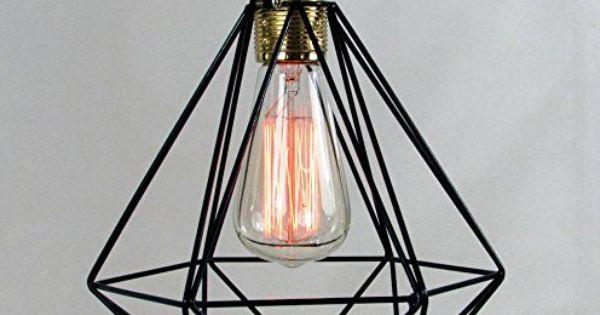 R tro style industriel luminaire lampe suspendue stle nordique cage m talli - Lampe suspendue ikea ...