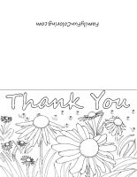 Printable Thank You Cards To Color Printable Thank You Cards